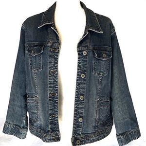 Chico's Jean Denim Riveted Jacket